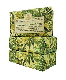 Lemongrass and Lemon Myrtle Soap with Pack of 3, Each 7 oz