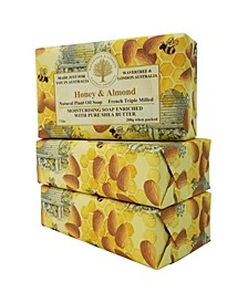 Honey and Almond Soap with Pack of 3, Each 7 oz
