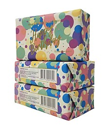 Happy Birthday - Confetti - Bar Soap with Pack of 3, Each 7 oz