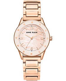 Women's Rose Gold-Tone Bracelet Watch 33mm