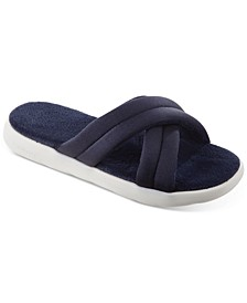 Women's Zenz Satin Pintucked Slide Slip-Ons