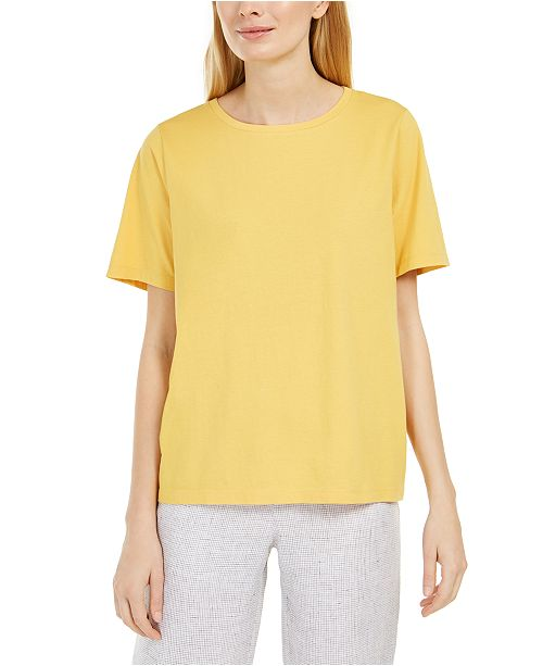 Eileen Fisher Cotton T-Shirt, Regular & Petite Sizes