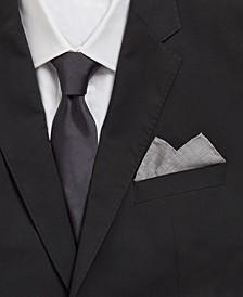 BOSS Men's Open Grey Rolled Pocket Square