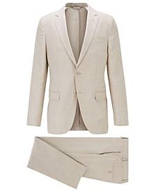 BOSS Men's Light Beige Suit