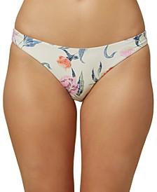 Juniors' Batik Floral Classic Hipster Bikini Bottoms