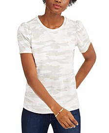 Cotton Puff-Sleeve T-Shirt