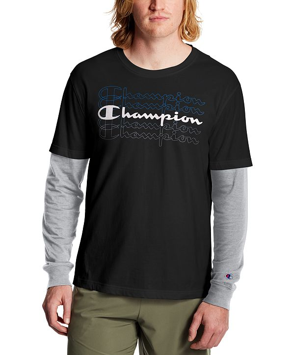 Champion Men's Layered-Look Long-Sleeve T-Shirt