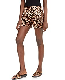 INC Cheetah Shorts, Created for Macy's