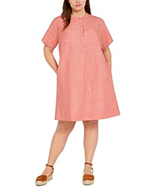 Plus Size All Linen Sheath Dress
