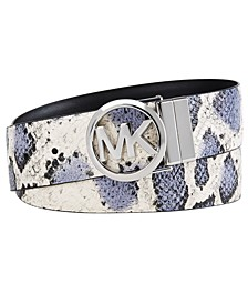 Reversible Snake-Embossed Belt
