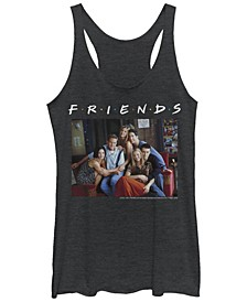 Friends Central Perk Couch Group Portrait Tri-Blend Women's Racerback Tank