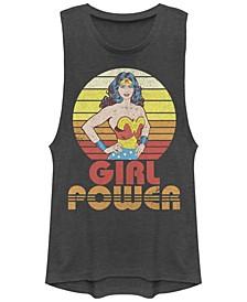 DC Wonder Woman Girl Power Sunset Portrait Festival Muscle Women's Tank