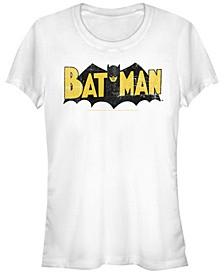 DC Batman Classic Distressed Logo Women's Short Sleeve T-Shirt