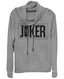 DC Batman The Joker Text Box Cowl Neck Women's Pullover Fleece