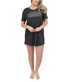 Star Wars Heather Jersey Short Sleeve Scoop Neck Nightshirt