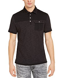 INC Men's Pattern-Blocked Polo Shirt, Created for Macy's