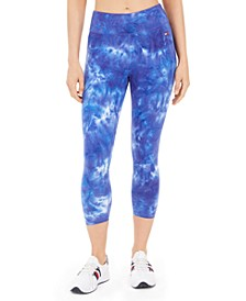 Tie-Dyed Cropped Leggings
