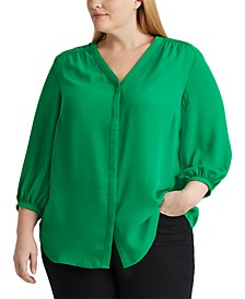Pleated Georgette Top