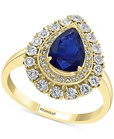 EFFY® Sapphire (1-1/3 ct. t.w.) & Diamond (1/5 ct. t.w.) Ring in 14k Gold & White Gold