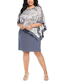 Plus Size Chiffon Poncho Dress