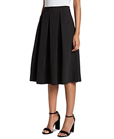 Box-Pleat Midi Skirt