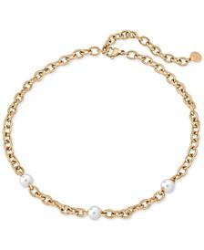Stainless Steel Imitation Pearl Link Bracelet