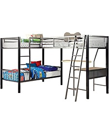 Shorin Metal Bunk Bed with Desk