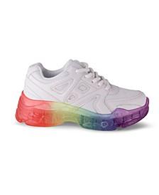 BRISK Women's Rainbow Sole Detail Sporty Sneaker