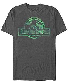 Jurassic World Men's Faded Pastel Watercolor Logo Short Sleeve T-Shirt