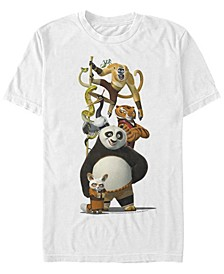 Kung Fu Panda Men's Po and Friends Short Sleeve T-Shirt