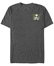 Star Wars Men's Neon Striped Stormtrooper Helmet Short Sleeve T-Shirt