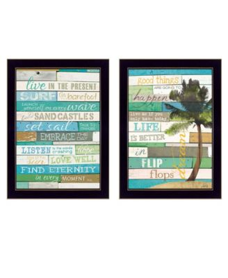 Today is a New Day Collection By Marla Rae, Printed Wall Art, Ready to hang, Black Frame, 10