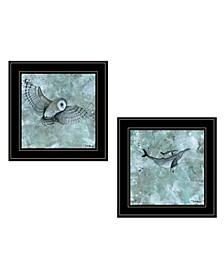 Trendy Decor 4u Wildlife 2-piece Vignette by Britt Hallowell Collection