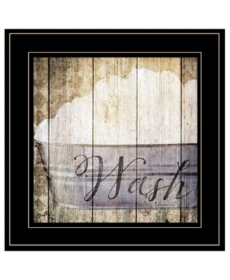 Wash by Misty Michelle, Ready to hang Framed Print, Black Frame, 15