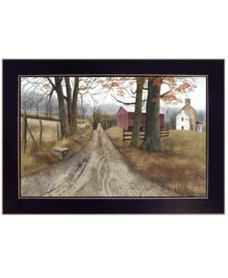The Road Home by Billy Jacobs, Ready to hang Framed Print, Black Frame, 20
