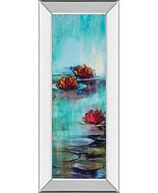 Aqua Lotus by Karen Lorena Parker Watercolor Mirror Framed Print Wall Art Collection