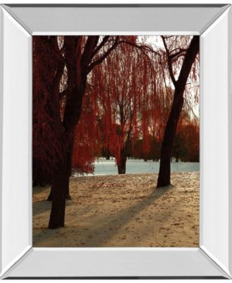 Autumn Snow II by Alicia Suave Mirror Framed Print Wall Art, 22