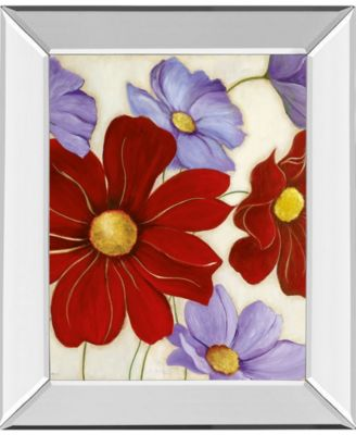 Lavender and Red II by Tava Studios Mirror Framed Print Wall Art, 22