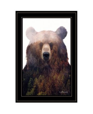King of the Forest by andreas Lie, Ready to hang Framed Print, Black Frame, 15