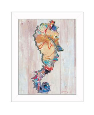 Seahorse II By Sear, Printed Wall Art, Ready to hang, White Frame, 14