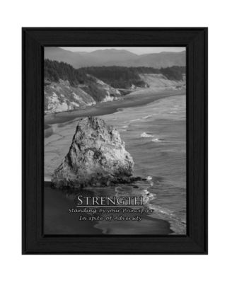 Strength By Trendy Decor4U, Printed Wall Art, Ready to hang, White Frame, 18