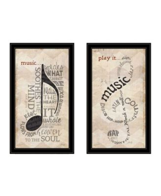 Music Collection 2-Piece Vignette By Marla Rae, White Frame, 11