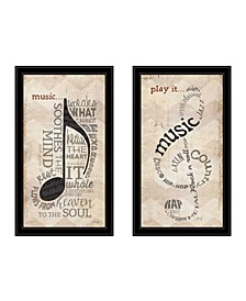 Trendy Decor 4U Music Collection 2-Piece Vignette By Marla Rae Collection