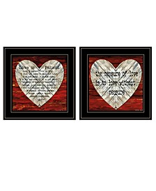 Trendy Decor 4U Love is Patient / Measure 2-Piece Vignette by Cindy Jacobs Collection