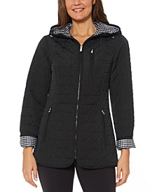 Water-Resistant Hooded Quilted Jacket