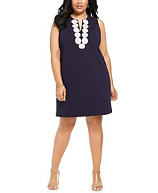 Plus Size Appliqué Shift Dress