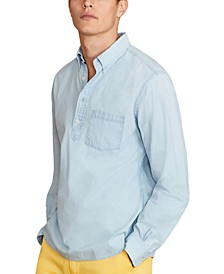 Men's Cotton Chambray Popover Shirt, Created for Macy's