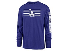 Los Angeles Dodgers Men's Cross Stripe Long Sleeve T-Shirt