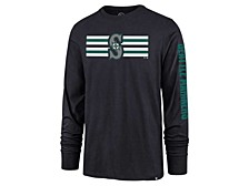 Seattle Mariners Men's Cross Stripe Long Sleeve T-Shirt