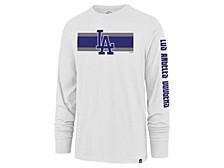 Los Angeles Dodgers Men's Cross Stripe Long Sleeve T-Shirt